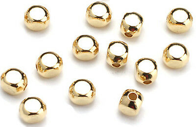 50 Gold Plated Roundish Square Beads 5MM