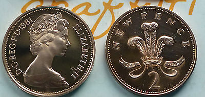 1981 NEW PENCE 2p COIN IN PROOF CONDITION COIN HUNT LOOK //////