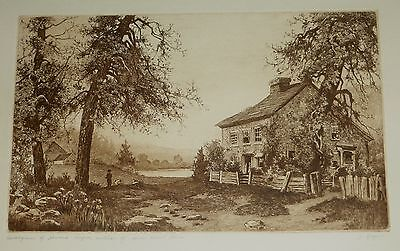 Home Sweet Home Etching, James Fagan Listed Artist
