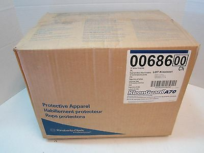 Case of 12 KleenGuard A70 Biohazard/Chemical Suits 3XL Coveralls w/ Boots & Hood