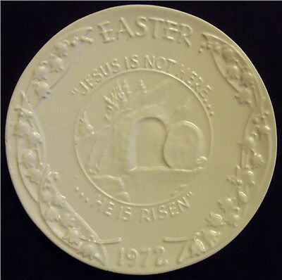 1972 Frankoma Easter Plate in White - Oral Roberts Association