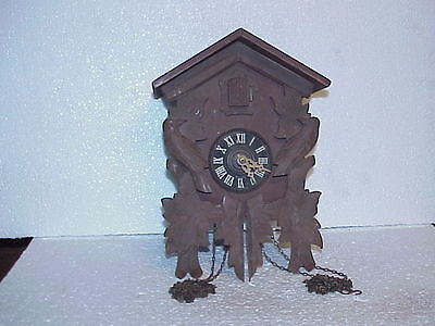Vintage One Day Emil Schmeckenbacher Cuckoo Clock for Parts parts repair L