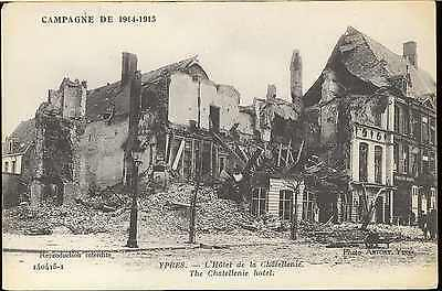 Ww1 Bef French Cef German Army Picture Post Card Ypres Hotel Chatellenie