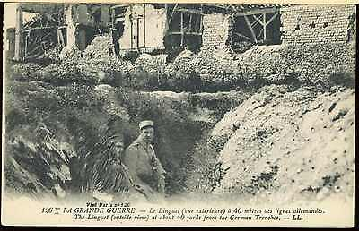 Ww1 British Canadian French Army Picture Post Card La Linguet Trench View