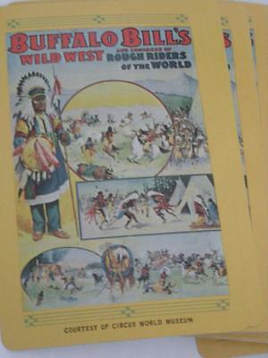 Vintage Buffalo Bill Wild West Show Playing Cards Deck Cowboys Indians Circus