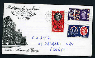 1961 Post Office Savings Bank illustrated fdc