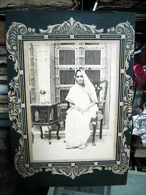 India Rare Vintage -  Photograph Of Lady