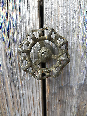 "Fun Industrial All Metal Rustic 2"" FAUCET HANDLE Drawer Pull Knob/Coat Hook"