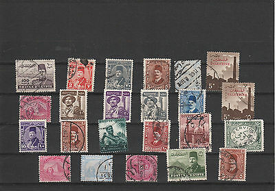 Ägypten ältere briefmarken Lot Re 3429