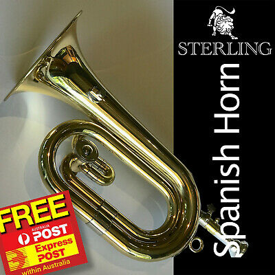 STERLING Spanish Horn • Brand New Valved Trumpet • With Case • Valved Bugle •
