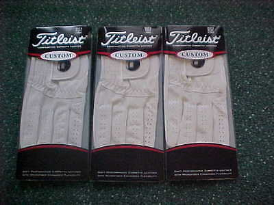 3 New Titleist Custom Ball Marker Magnetic Golf Gloves  Small, Left Handed Man