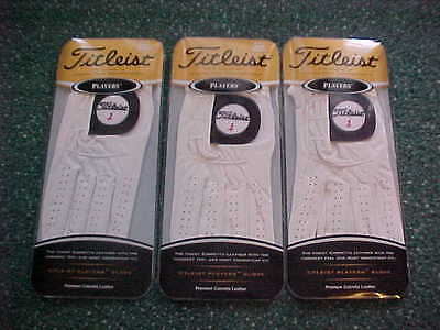3 New Titleist Mens Players Premium Golf Gloves Medium, Left Handed Man