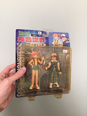 Ash And Misty Pocket Monsters Pokemon Japan Action Figures New Sealed In Box!