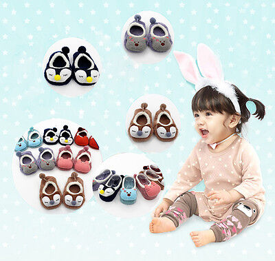 Lovely Baby Cartoon Cotton Socks Toddler Shoes Home Newborn Slipers Floor Boots