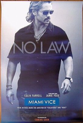 Miami Vice (2006) D/S Cinema Adv One-Sheet Poster, Colin Farrell 'Crockett'