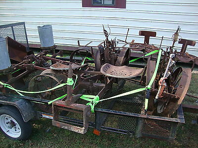Lot 3 Antique Farm Implements Two Holland Transplanters And Antique Seeder