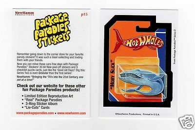 2009 Wacky Package Parodies Hot Wheels Whales Promo Card P15