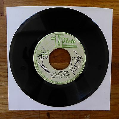 """SONYA SPENCE No Charge / Dub Writing HIGH NOTE Jamaica Press 7"""" 45 Sky Nation"""