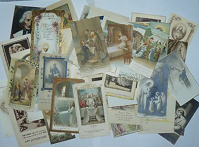 LOT IMAGES PIEUSES Canivets Holly Cards Santini # 11