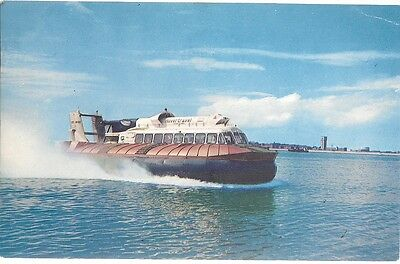 Rare Old Postcard - Hovertravel Hovercraft   Southsea - Ryde Isle Of Wight 1967