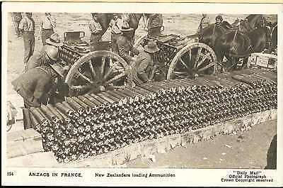 Ww1 New Zealand Anzac Artillery Gunners Picture Post Card French War Front Photo