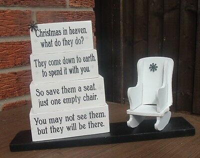 shabby vintage chic christmas in heaven what do they do? chair solid pine blocks
