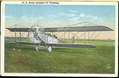 WW1 UNITED STATES ARMY AIR FORCE USAAF PILOTS TRAINING in JENNY JN-4 POST CARD