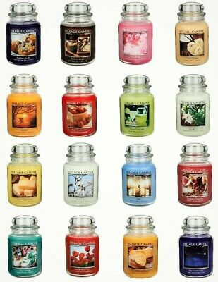 Village Candle 26oz Scented American Large Jar Candle Double Wick Many Fragrance