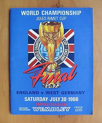 1966 World Cup Final ENGLAND v WEST GERMANY Original Football Programme Exc Cond