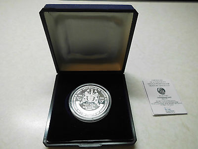 "Mauritius / Rodrigues  Silver Medal  ""Taking Possession of the Island""  Proof"