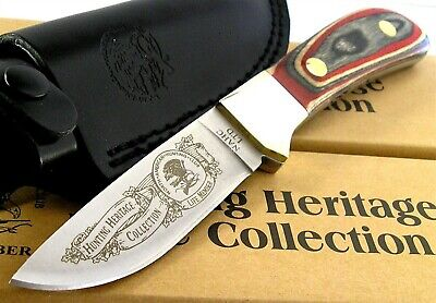 NAHC Hunting Heritage Drop Point Hunter Fixed Blade Knife Multi Color Wood