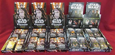 Lot Of 98 Packs 2016 Topps Star Wars Chrome & Rogue One Trading Cards