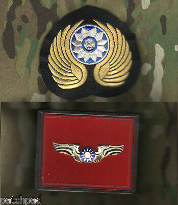 WWII US CBI China-Burma-India THEATER AVG FLYING TIGERS INSIGNIA PILOT WING SET