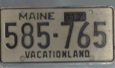 Vintage 1967 MAINE CAR  license plate 585-765 THE AMON CARTER COLLECTION