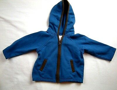 Baby Boy 3-6 months Blue Hooded Jacket Coat Old Navy