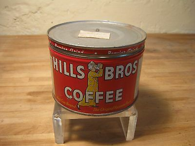 Vintage Hills Brothers Bros Coffee Tin with lid