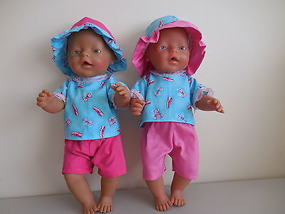 "Baby Born 17"" Dolls Clothes 3 Piece Shorts Summer Outfit"
