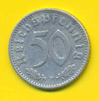 Germany Third Reich  50 Reichspfennig  1942 F  KM 96  VF