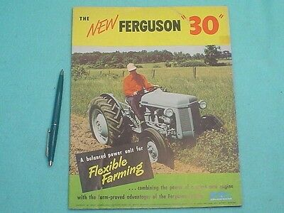 1951 Ferguson 30 Tractor Large Poster Size Fold-Out Brochure
