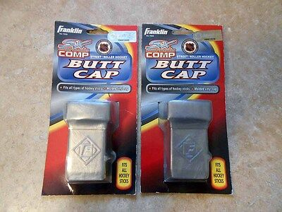 2X New Franklin SX Street Extreme Hockey Stick Butt End Cap Fits ALL SILVER