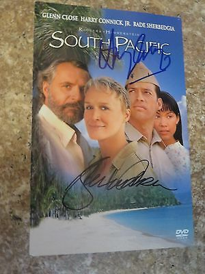Signed Autographed DVD Insert South Pacific - Glenn Close & Harry Connick Jr.