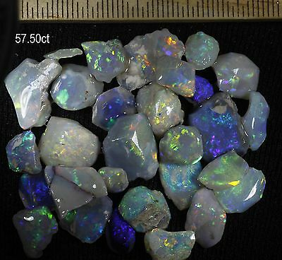 PARCEL OF LIGHTNING RIDGE OPAL PIECES WITH BEAUTIFUL COLOLURS! 57.50ct