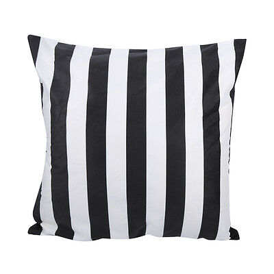 Simple Black White Striped Cotton Sofa Decor Throw Pillow Case Cushion Cover DY