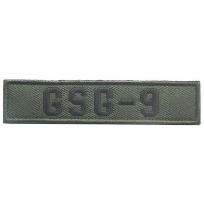 Gsg-9 Tactical Military Isaf Morale Swat Green Embroidery Badge Patch