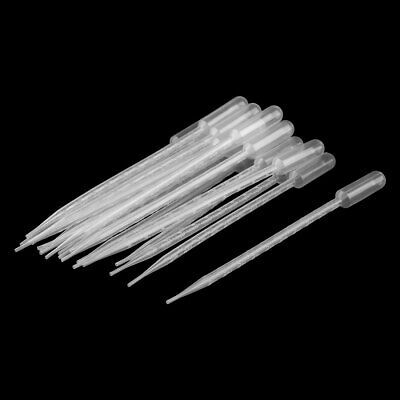 Plastic Transfer Pipettes Graduated Dropper Clear 10ml Capacity 20 Pcs