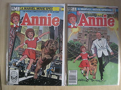 ANNIE : COMPLETE 2 ISSUE SERIES. 1,2. ADAPTATION of the MOVIE. MARVEL.1982