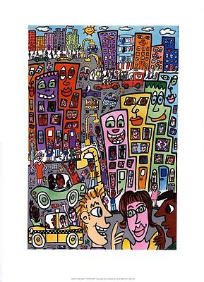 James Rizzi LIVING IN THE LAND OF OPPORTUNITY Poster 20 PopArt USA New York SoHo