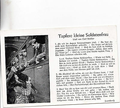 Good Ww2 1940S Germany Patriotic Printed Postcard  Unposted L*r9