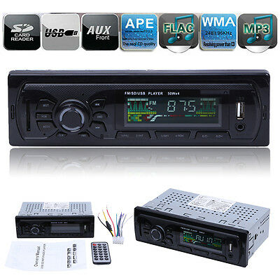 Car Radio Stereo Head Unit Player WMA /MP3/USB/SD/AUX-Input/FM In-dash IPod 1DIN
