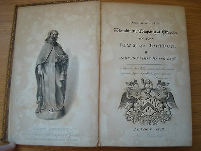 1829 Some Account Of The Worshipful Company Of Grocers The City Of London Guild